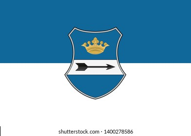 Flag of Zala is an administrative county in south-western Hungary. 2d illustration
