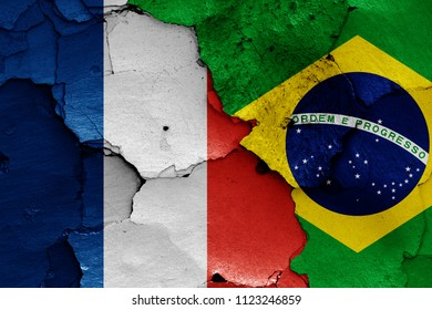 flags of France and Brazil