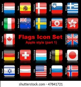 Flags icon set