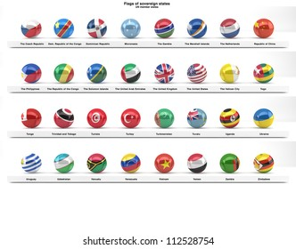 Flag round icons buttons rating country stock vector royalty free vector illustration flags of sovereign states projected as spheres on a white background all un member states freerunsca Image collections