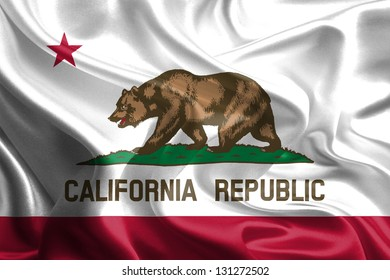 Flags of the U.S. states: Waving Fabric Flag of California
