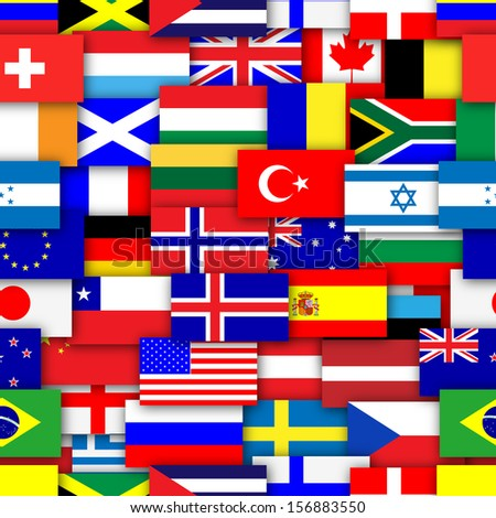 Royalty Free Stock Illustration Of Flags World Repeating Tileable