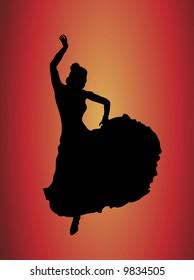 flamboyant flamenco dancer