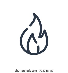 flame icon isolated fire flame icon stock vector royalty free