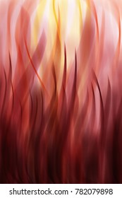 flame oil panting, red and yellow, orange colors, interior design, wall, wallprint and wallpaper, tongue of flame, fire, passion
