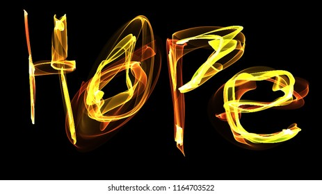 Flame Painting saying Hope