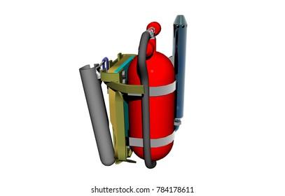 flamethrower 3D rendering