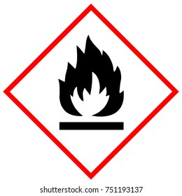 Flammable substances warning sign