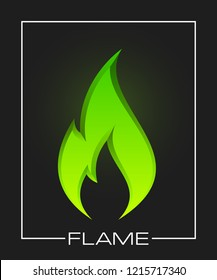 Flammable symbol. Icon lighter with picture flame of fire. Highly flammable things. Fire sign. Explosive object simple logo. Color flame pictogram. Supports combustion icon