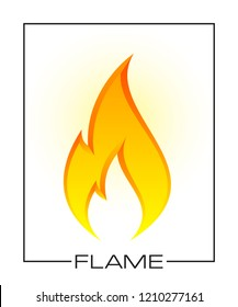 Flammable symbol. Icon with picture flame of fire. Highly flammable things. Fire sign. Explosive object simple logo. Color flame pictogram. Supports combustion icon