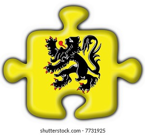 flanders button flag puzzle shape