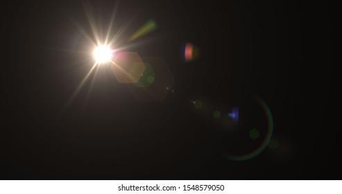 Flare lens Stock Image In Black Background