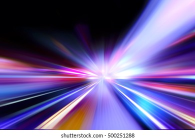 flash acceleration speed motion on night road