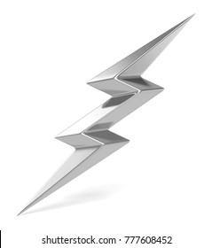 flash of lightning. 3d illustration on white background