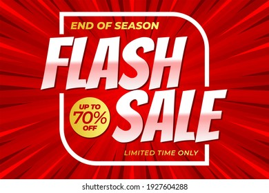 Flash sale banner template for clearance, discount, special offer