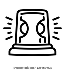 Flasher icon. Outline flasher icon for web design isolated on white background