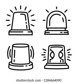 Flasher icon set. Outline set of flasher icons for web design isolated on white background
