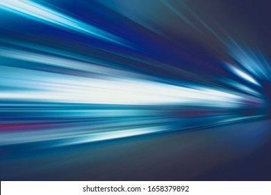 FLASHING LIGHTS OF SPEED MOTION LINES ON THE NIGHT HIGHWAY ROAD, CITY TRANSPORATION BACKGROUND