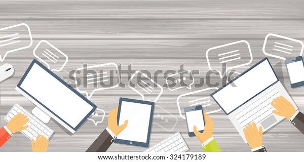 Flat background. Envelope. International communication. Business correspondence and private messages. Express delivery. Postal services. Chatting.