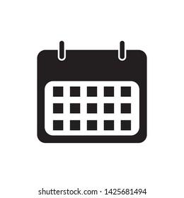 Flat calendar Icon. Calendar on the wall