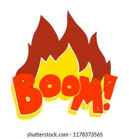 flat color illustration of boom