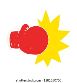 flat color illustration of boxing glove
