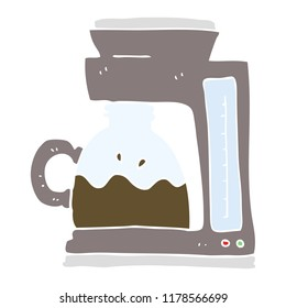 flat color illustration of coffee filter machine