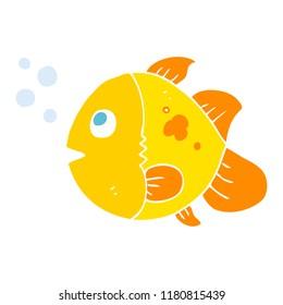 flat color illustration of fish