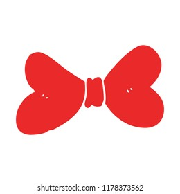 flat color style cartoon bow tie