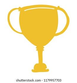 flat color style cartoon sports trophy