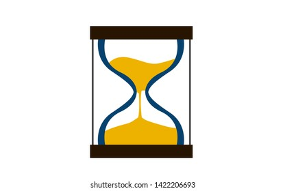 Flat design of hourglass icon, 3D rendering