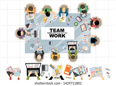 Flat design illustration concepts for business analysis and planning, consulting, teamwork, project management, financial report and strategy . Concepts web banner and printed materials.