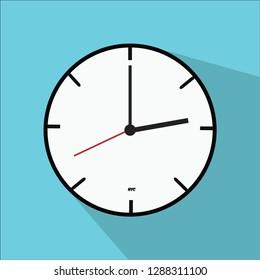 A flat designed clock