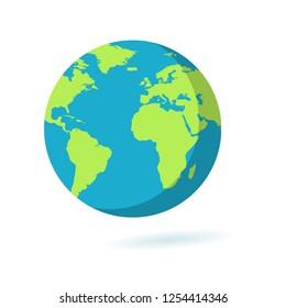 Flat Earth icon. Planet symbol illustration. Globe sign.