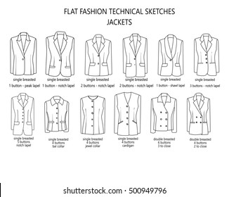 Flat Fashion Sketch Template