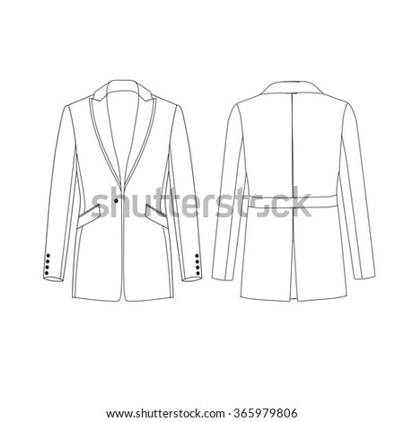 Royalty Free Stock Illustration Of Flat Fashion Sketch Template Man