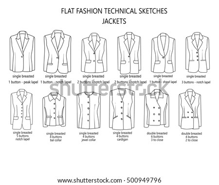 flat fashion sketch template man suitのイラスト素材 500949796