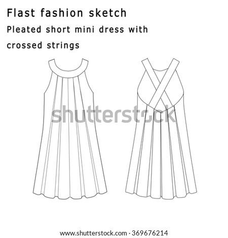 Flat Fashion Template Sketch