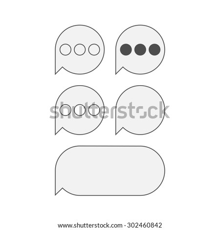 Flat Icons Mobile Text Messaging Stock Illustration - Royalty Free
