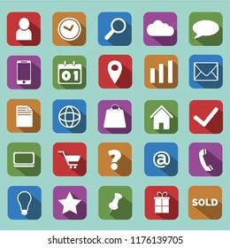 Flat Icons Set - ecommerce, Illustration