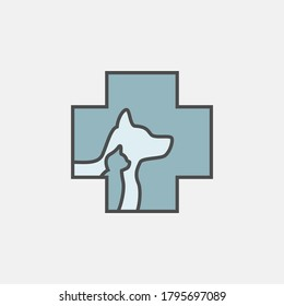 flat line Pet-Vet icon, simple sign and symbol from Pet-vet collection, design element for User Interface