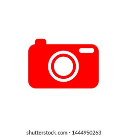 Flat minimal camera icon. Simple raster camera icon. Isolated camera icon for various projects.
