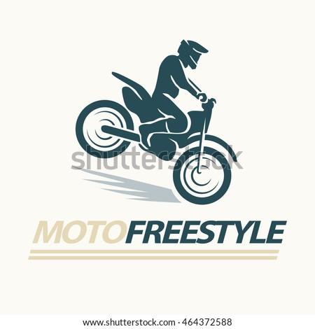 Motofree flat moto free style racer icon stock illustration 464372588