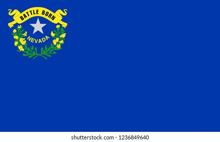flat nevada state flag - usa
