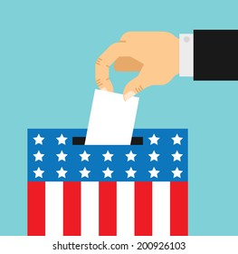 flat style illustration of election day