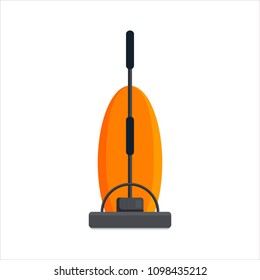 Flat vacuum cleaner icon logo isolated on white background. Electrical hoover for house cleaning. Household equipment