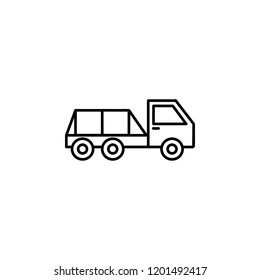 flatbed pickup icon. Element of construction machine icon for mobile concept and web apps. Thin line flatbed pickup icon can be used for web and mobile