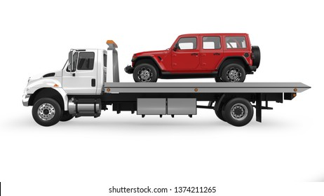 Flatbed Tow Truck >> Flatbed Tow Truck Images Stock Photos Vectors Shutterstock