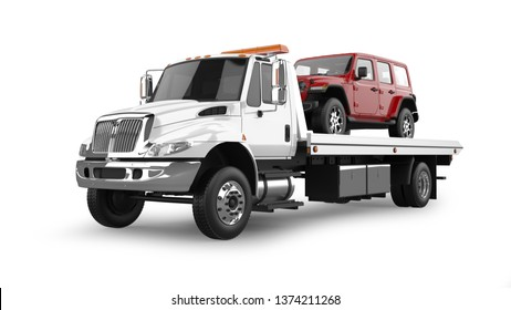 Flatbed Tow Truck Images Stock Photos Vectors Shutterstock