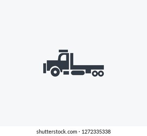 Flatbed truck icon isolated on clean background. Flatbed truck icon concept drawing icon in modern style.  illustration for your web mobile logo app UI design.